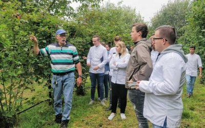 Brabantse koksstudenten op bezoek bij De Walnoothoeve(n)