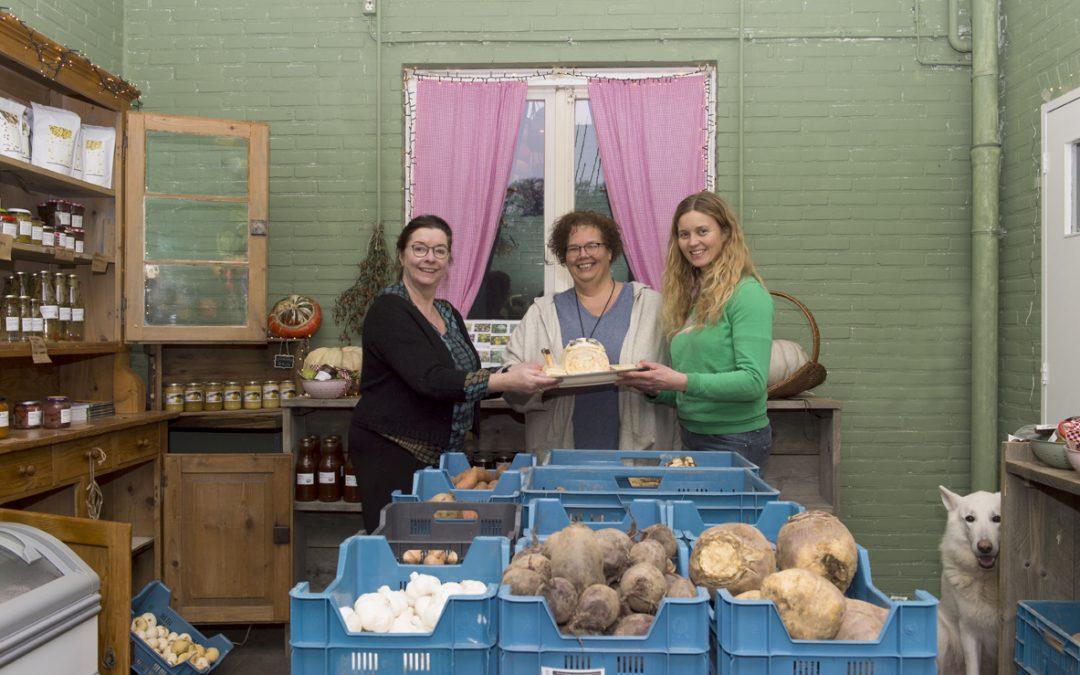 Taart voor drie agrarische ondernemers met visie en lef